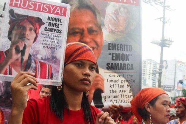 Manifestation de soutien à Michelle Campos