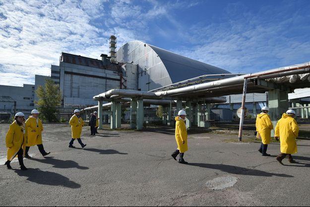 La centrale solaire de Tchernobyl, en Ukraine.