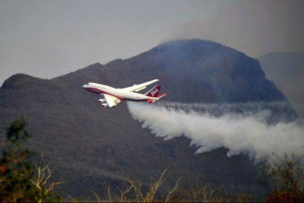 L'avion Global SuperTanker, basé sur un Boeing 747, opère en Bolivie, vendredi dernier. (photo d'illustration)