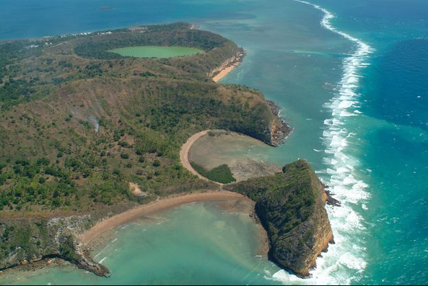 Vue aérienne de Mayotte.