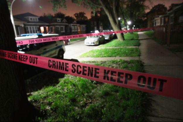 Scène de crime à Chicago en 2017 (photo d'illustration)