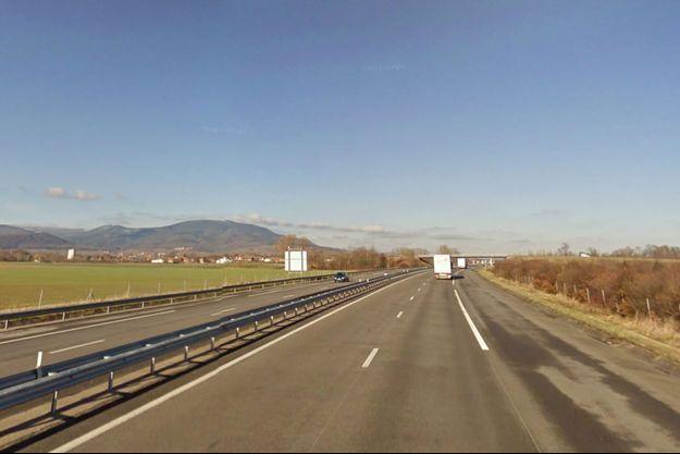 Sur l'autoroute A35 à hauteur de Stotzheim. (photo d'illustration)