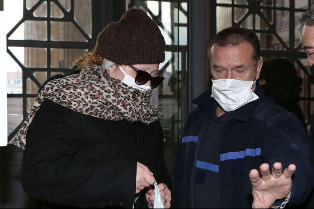 Cécile Bourgeon à la cour d'assise du Rhône à Lyon le 3 décembre 2020