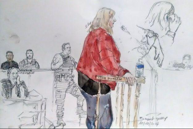 Cécile Bourgeon à son procès le 9 octobre 2017.