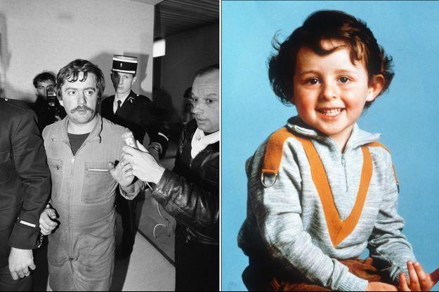un rapport de gendarmerie incrimine Bernard Laroche, ici en novembre 1984, de l'enlèvement du petit Grégory (à droite).