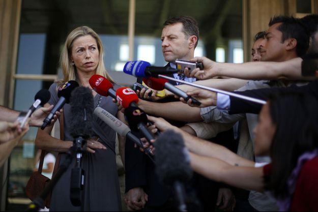 Kate et Gerry McCann à Lisbonne ce lundi.