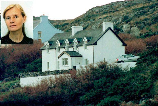 La maison de Sophie Toscan du Plantier (en médaillon) dans la lande de West Cork.