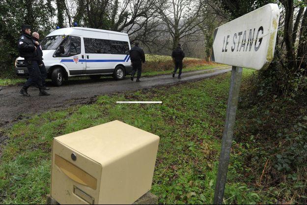 Les investigations sont menées près du domicile de Lydie Troadec et Hubert Caouissin