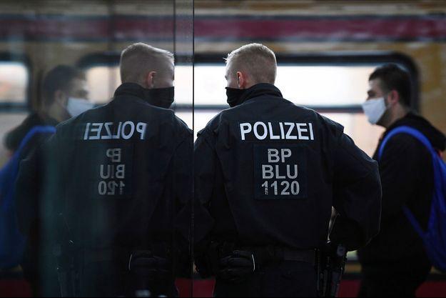 La police allemande. Image d'illustration.