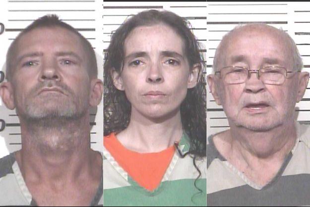 Les trois suspects : les parents de l'enfant, T.J. Brown et Heather Scarbrough et le grand-père Charles Brown.