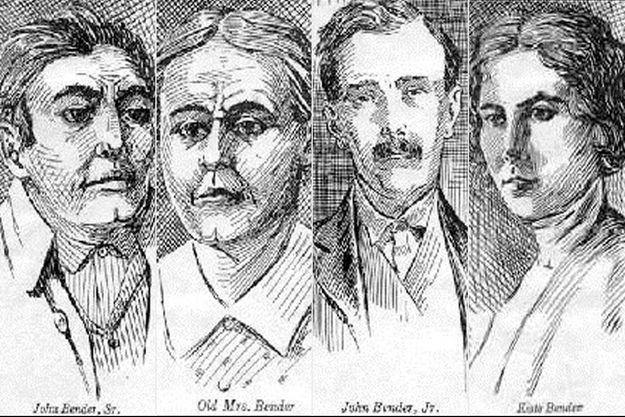 """La famille Bender, surnommée les """"Bloody Benders"""""""