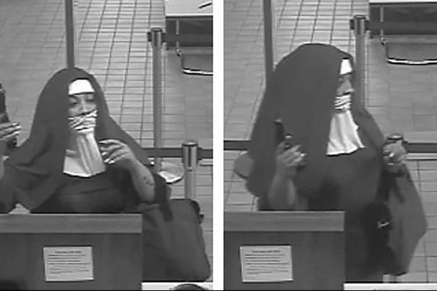 Images de vidéosurveillance montrant les fausses bonnes soeurs durant leur braquage, à Tannersville.