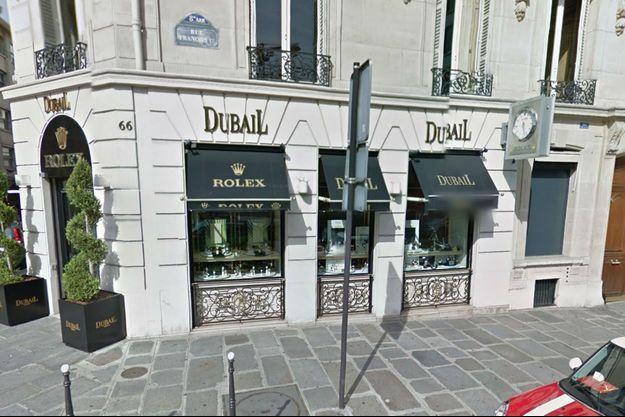 Le braquage raté a eu lieu dans cette bijouterie de Paris.