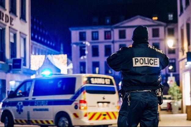 La police et les secours à Strasbourg.
