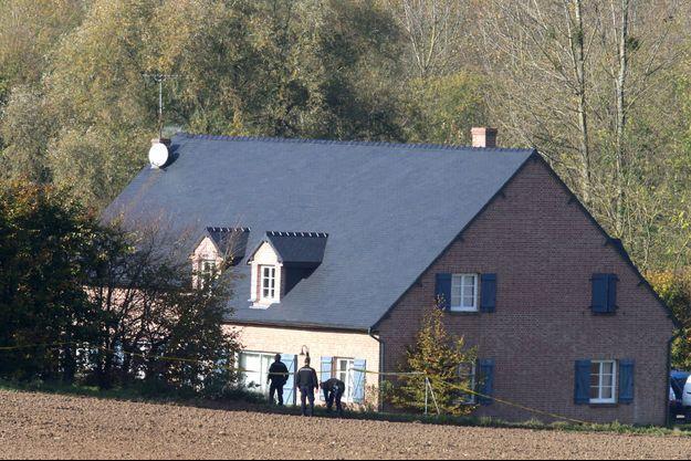 Maison de la famille assassinée par le père à Nouvion-et-Catillon dans l'Aisne le 31 octobre 2017