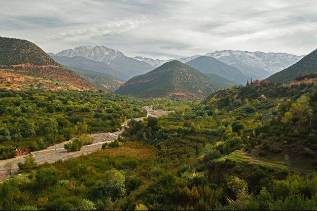 Vallée de Imlil au Maroc.