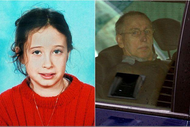 A gauche, Estelle Mouzin, alors âgée de 9 ans; à droite, Michel Fourniret en 2008.