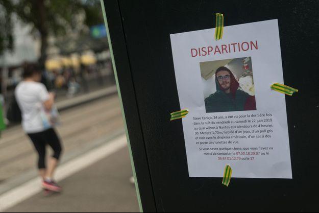 Avis de disparition de Steve à Nantes.