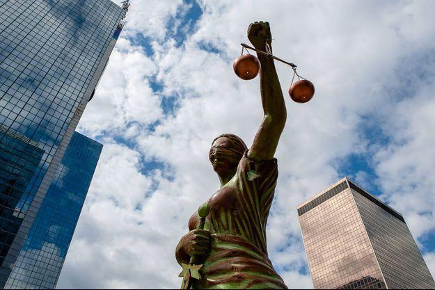 Une statue représentant la justice à Bruxelles (image d'illustration).