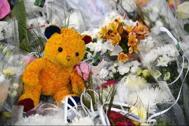Des fleurs et des peluches déposées à Lorient en hommage des deux enfants renversés par une voiture.
