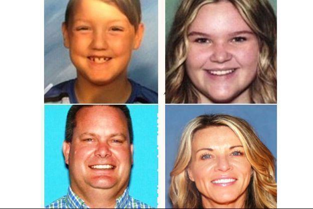 Joshua et Tylee, 7 et 17 ans, leur mère Lori et son nouveau mari Chad