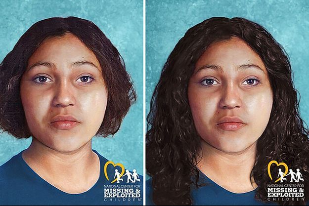 Le National Center for Missing & Exploited Children a réalisé des images de ce à quoi devait ressembler l'adolescente.