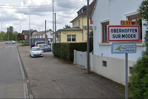 A l'entrée d'Oberhoffen-sur-Moder, dans le Bas-Rhin (photo d'illustration).