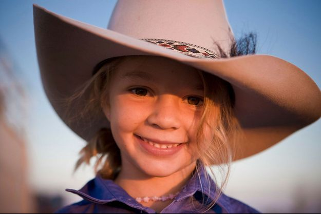 """Amy """"Dolly"""" Everett, en 2010, pour une publicité de chapeaux """"Akubra Hats"""""""