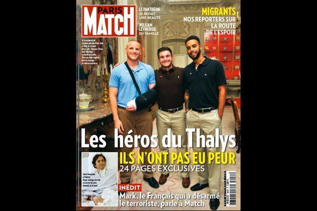 Spencer Stone, Alek Skarlatos et Anthony Sadler, les héros américains du train Thalys.