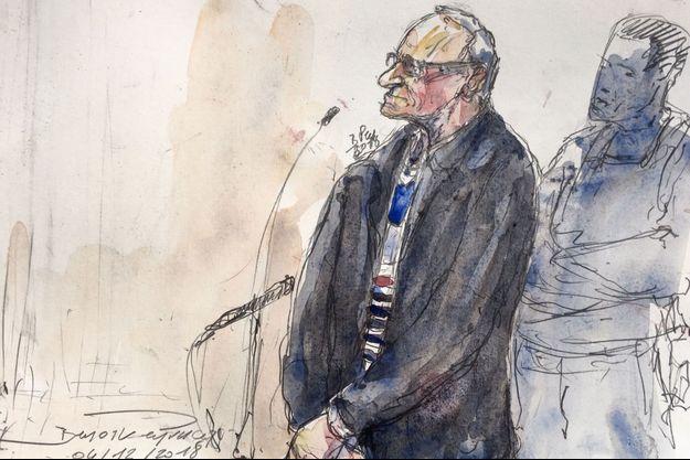 Illustration de Francis Heaulme, lors de son procès, le 4 décembre 2018 à Versailles.