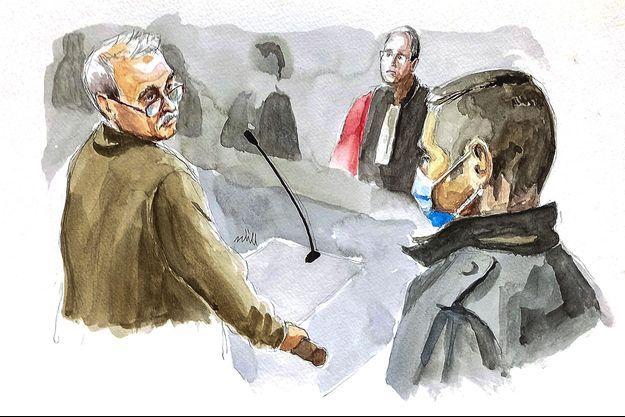 Le père d'Alexia s'adresse à Jonathann Daval lors de son procès.