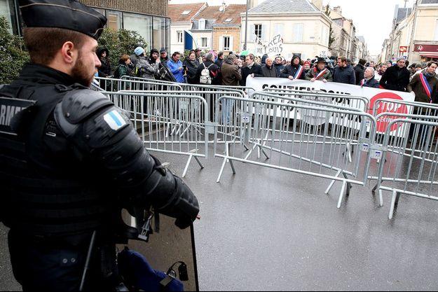 Manifestation en soutien à Jean-Louis Leroux, le 13 février 2020.
