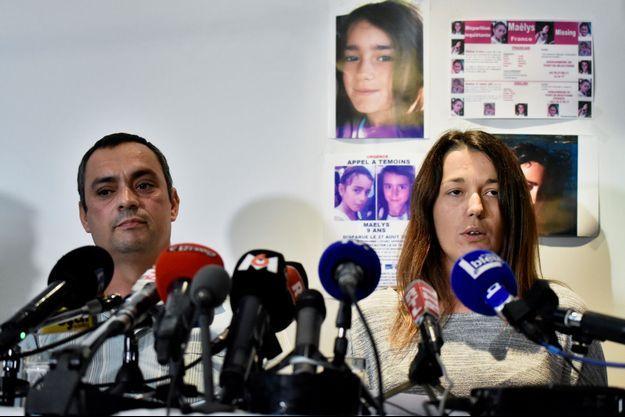 Joachim et Jennifer de Araujo, les parents de Maëlys jeudi en conférence de presse.