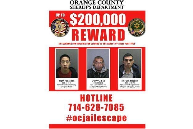 Les trois fugitifs sont toujours recherchés.