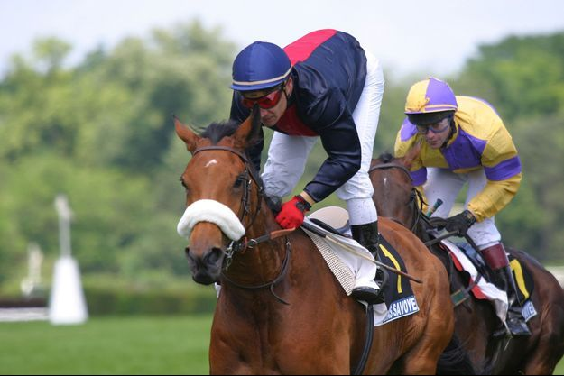 Le jockey Christophe Pieux