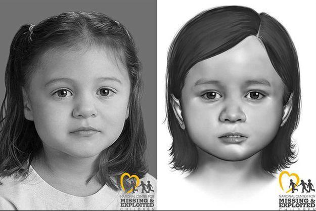 Le portrait réalisé par ordinateur de la petite fille retrouvée morte en septembre.