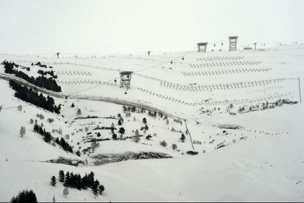 La piste de ski des Deux Alpes