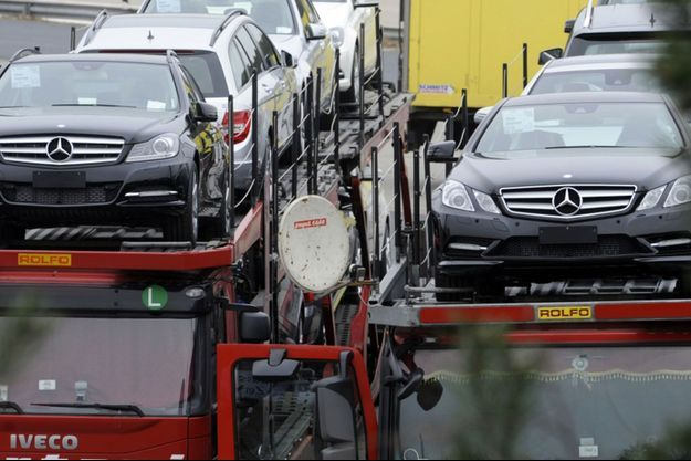Les véhicules visés sont surtout ceux se trouvant sur des remorqueuses (image d'illustration, prise près de Hanovre en mars 2012).