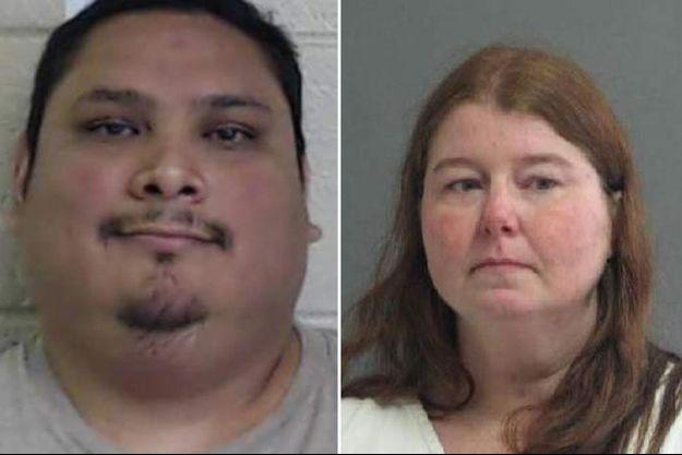 David Rodriguez Jr et Christina Marie Harper, deux des trois suspects.