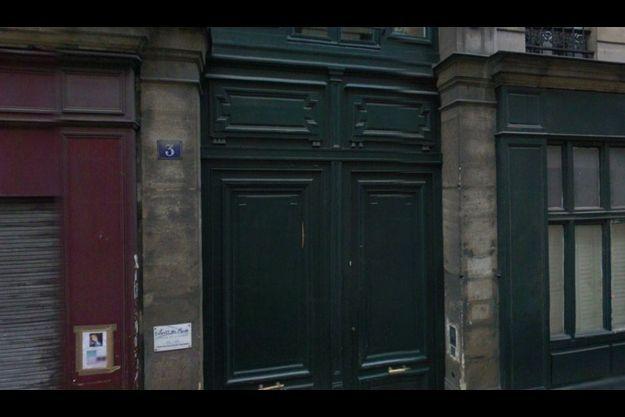 La porte de l'atelier où s'est déroulé le drame.