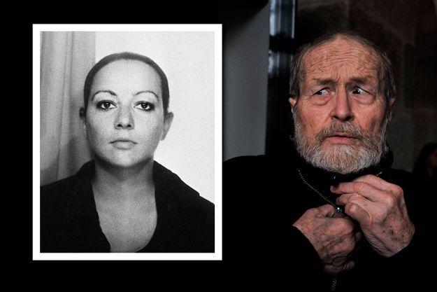 Agnès Le Roux (photo non datée). À droite, Maurice Agnelet arrive au tribunal le 17 mars 2014 pour son procès.