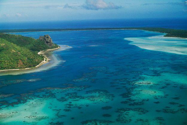 Ile de Maupiti en Polynésie française.
