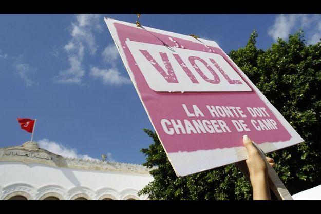 Une manifestation contre l'impunité des violeurs à Tunis en octobre dernier.