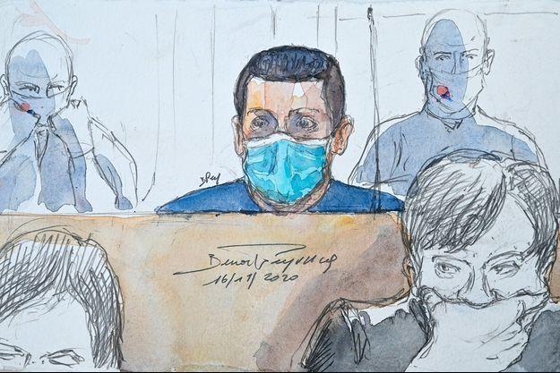 Jonathann Daval à son procès.