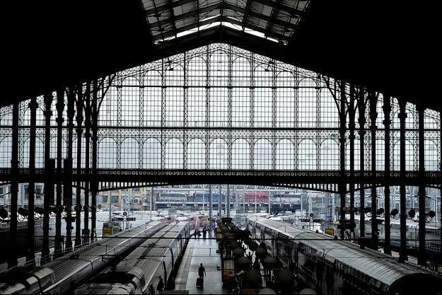 Les quais de la Gare du Nord, à Paris.