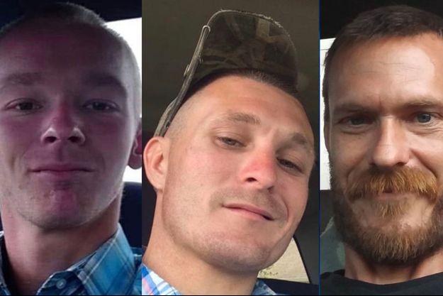Damion Tillman, 23 ans, Keven Springfield, 30 ans et Brandon Rollins, 27 ans.