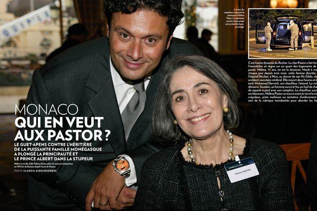 Hélène et son fils, Gildo Pallanca Pastor, pilote de course et entrepreneur, en 1999, lors du Business Angels Forum de Monaco.