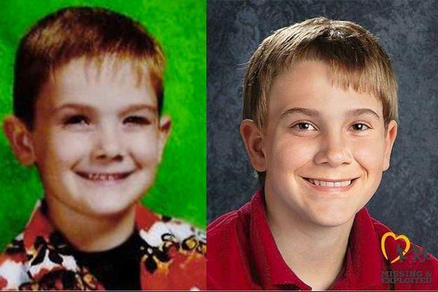 Une photo de Timmothy à gauche et un portrait réalisé par ordinateur à droite.