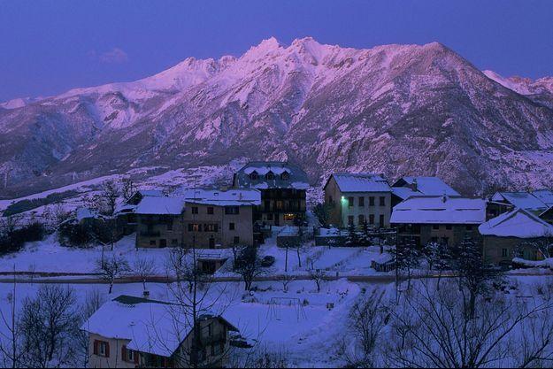 Vue de la station de sports d'hiver Risoul.