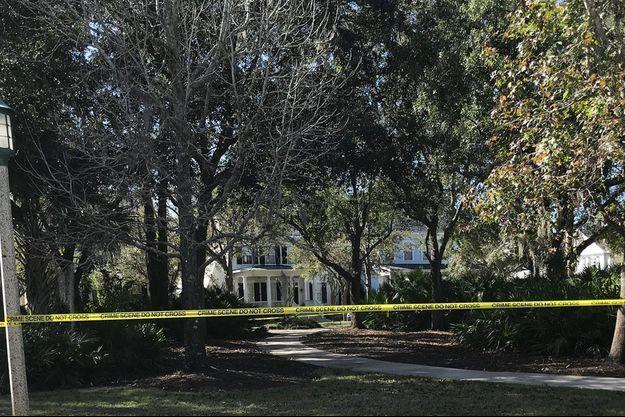 La maison de la famille Todt, à Celebration, où quatre personnes ont été retrouvées mortes.